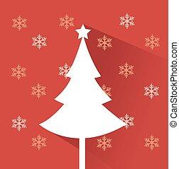 ベクトル, 木, クリスマス, イラスト