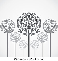 ベクトル, 木, 手