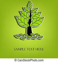 ベクトル, 木, 美しい
