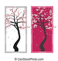 ベクトル, 木, sakura