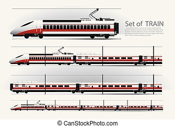 ベクトル, 柵, イラスト, 高く, 列車, スピード, 道