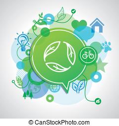ベクトル, 概念, エコロジー