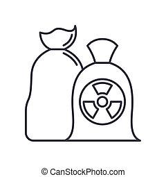 ベクトル, 概念, デザイン, 線, 白, シンボル, アウトライン, editable, 網, プラスチック, アイコン, 隔離された, ストローク, イラスト, バックグラウンド。, 印, ごみ, 線である, 薄くなりなさい