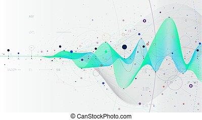 ベクトル, 概念, プレゼンテーション, 流れ, ビジネス, hi-tech, データ, 未来派, 大きい, イラスト, 革新, analytics, infographic