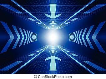ベクトル, 概念, 抽象的, イラスト, 背景, 未来, 技術