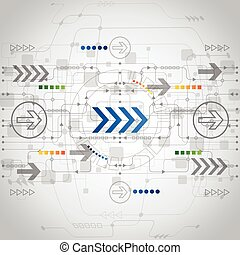 ベクトル, 概念, 抽象的, 背景, 未来, 技術