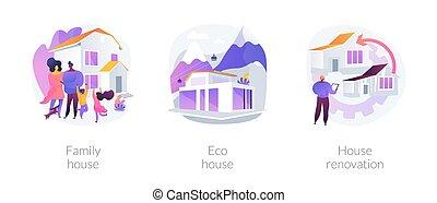 ベクトル, 概念, 特性, 抽象的, 建設, 私用, サービス, illustrations.