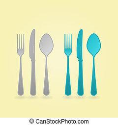 ベクトル, 概念, cutlery