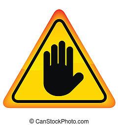 ベクトル, 止まれ, 手の 印
