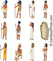 ベクトル, 歴史, 女, 古代, horus, 人々, エジプト, 神, cleopatra, エジプト人, 特徴, ...