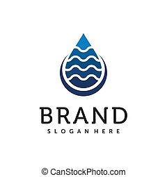 ベクトル, 水, ロゴ