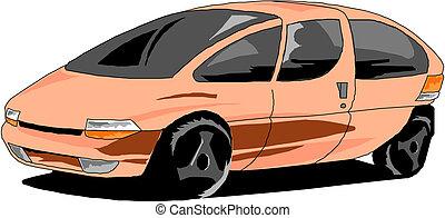 ベクトル, 漫画, 自動車