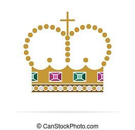 ベクトル, 王冠, アイコン