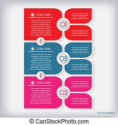 ベクトル, 現代, イラスト, infographic, デザイン, template.