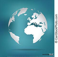 ベクトル, 現代, globe., illustration.