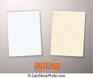 ベクトル, 現実的, セット, メモ用紙