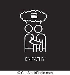ベクトル, 理解, アイコン, empathy, 黒, 債券, friendship., サポート, 相互, 白, interpersonal, チョーク, 強い, バックグラウンド。, 黒板, 隔離された, 感情的, イラスト, solidarity.