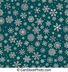 ベクトル, 白, 冬, 雪ははげる, seamless, 背景 パターン