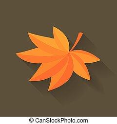 ベクトル, 秋, かえで 葉