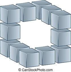 ベクトル, 立方体, 3d