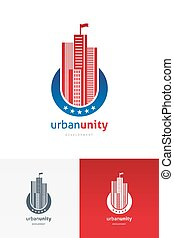 ベクトル, 紋章, 超高層ビル