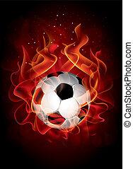 ベクトル, 素晴らしい, サッカー, 背景