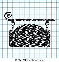 ベクトル, 細工された鉄, 印, ∥ために∥, 旧式, デザイン