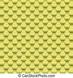 ベクトル, 緑の背景, 手ざわり, はたを織りなさい