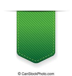 ベクトル, 緑, 空, リボン, 隔離された