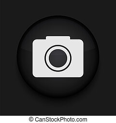 ベクトル, 編集, eps10., カメラ, 容易である, icon.