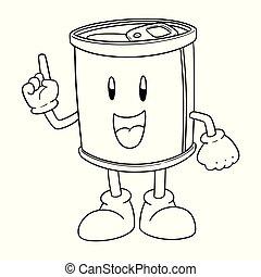 ベクトル, 缶, 漫画