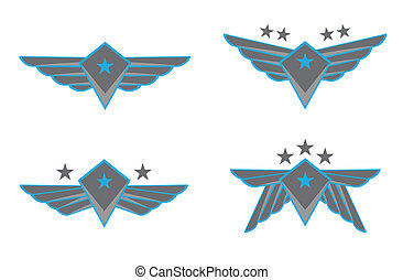 ベクトル, 翼, イラスト
