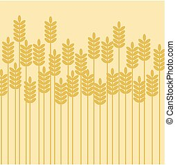 ベクトル, 背景, イラスト, 禾穀類