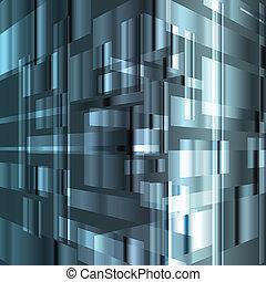 ベクトル, 背景, 抽象的, やあ、こんにちは技術, テンプレート