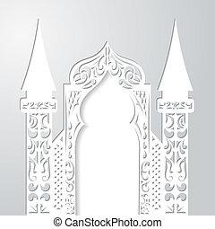 ベクトル, 背景, 抽象的, arch., イラスト