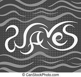 ベクトル, 背景, 波