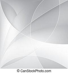 ベクトル, 背景, 銀, 抽象的