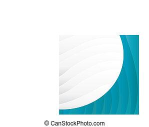 ベクトル, 背景, 青い波, ビジネス 実例
