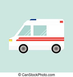 ベクトル, 自動車, 救急車