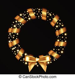 ベクトル, 花輪, クリスマス