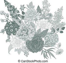ベクトル, 花, すてきである