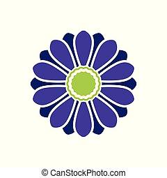 ベクトル, 花, アイコン