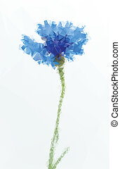 ベクトル, 花, イラスト
