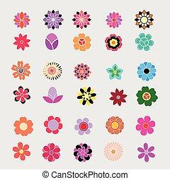 ベクトル, 花, カラフルである