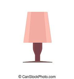 ベクトル, 芸術, アイコン, isolated., ライト, 光景, 優雅さ, 装置, ランプ, 枕元, 前部, 明り, 内部, 家具