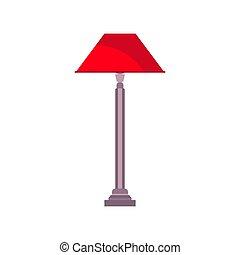 ベクトル, 芸術, アイコン, isolated., ライト, 光景, 装置, ランプ, 枕元, 前部, 内部, 家具