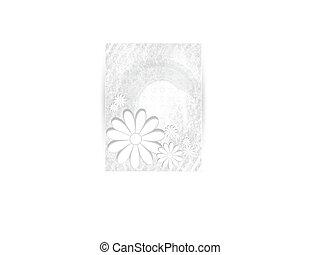 ベクトル, 菊, 青い花, ベクトル, card.
