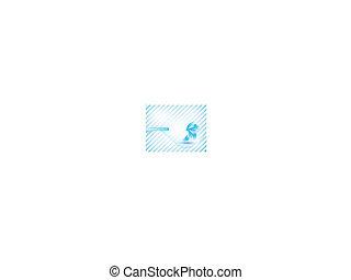 ベクトル, 菊, 青い花, card., 抽象的