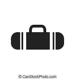 ベクトル, 袋, スポーツ, デザイン, アイコン