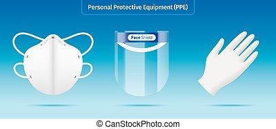 ベクトル, 装置, 個人的, illustration., 保護